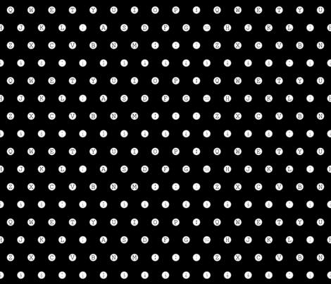 typewriter_keys_small fabric by nncw12 on Spoonflower - custom fabric