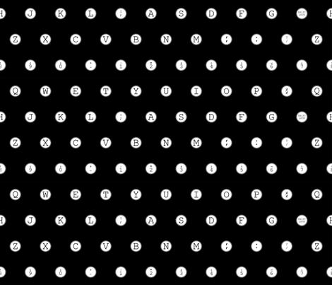Typewriter keys fabric by nncw12 on Spoonflower - custom fabric