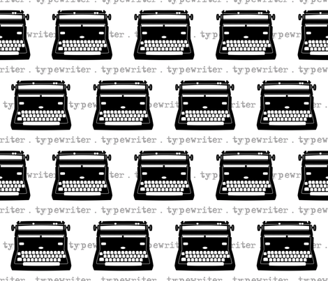 toothy typewriters fabric by retrorudolphs on Spoonflower - custom fabric