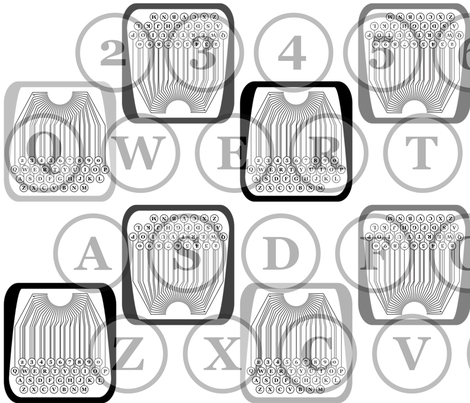typewriter number letter pattern fabric by veerapfaffli on Spoonflower - custom fabric