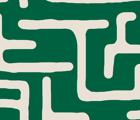Kuba in emerald fabric by domesticate on Spoonflower - custom fabric