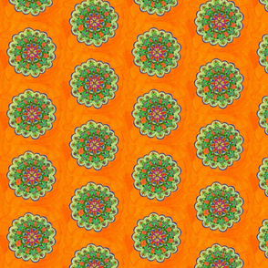 Orange Green Mandala