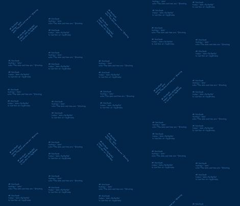 bash script1 - dk blue fabric by datawolf on Spoonflower - custom fabric
