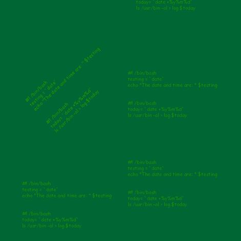 bash script1 - dk green fabric by datawolf on Spoonflower - custom fabric
