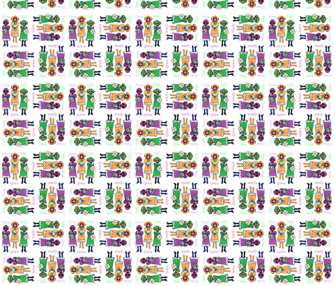 Hope, Faith & Grace Virtue Girls fabric by dancing_fabrics on Spoonflower - custom fabric