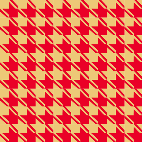 camel red houndstooth fabric by mojiarts on Spoonflower - custom fabric