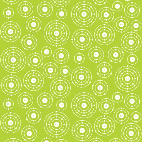 Periodic Shells (Green Ditsy) fabric by robyriker on Spoonflower - custom fabric