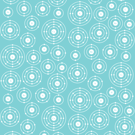 Periodic Shells (Blue Ditsy) fabric by robyriker on Spoonflower - custom fabric
