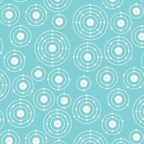 Periodic Shells (Blue Ditsy)