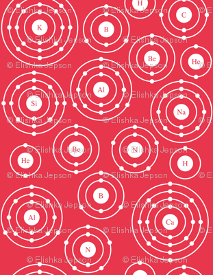 Periodic Shells (Red Ditsy)