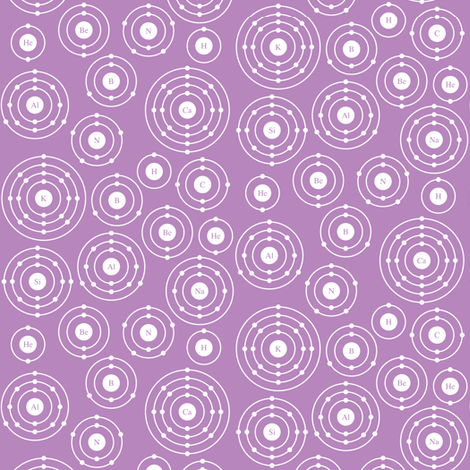 Periodic Shells (Purple Ditsy) fabric by robyriker on Spoonflower - custom fabric