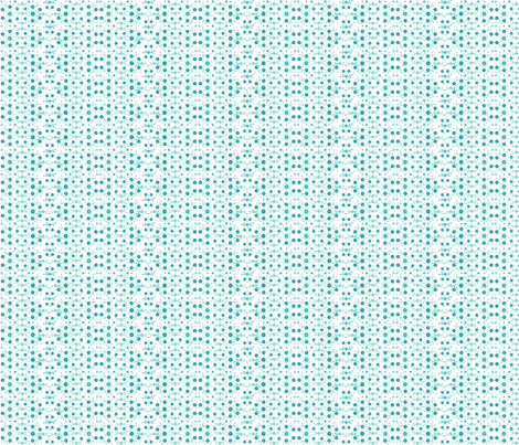 Tiny Turquoise Flowers'n Buds on White fabric by wellrock_designs on Spoonflower - custom fabric