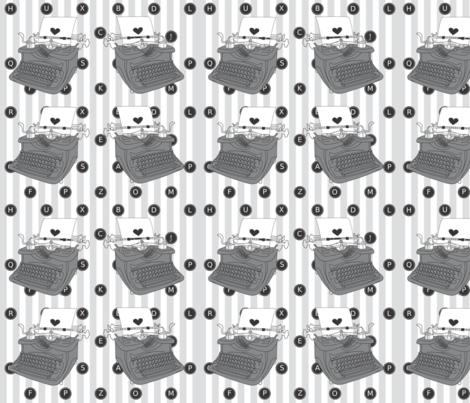 typepattern fabric by greenpistachio on Spoonflower - custom fabric