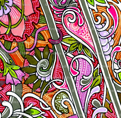 Zig Zag English Floral Border
