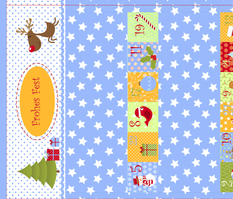 Weihnachtskalender für Jungs (Cut and Sew) fabric by ciconia on Spoonflower - custom fabric