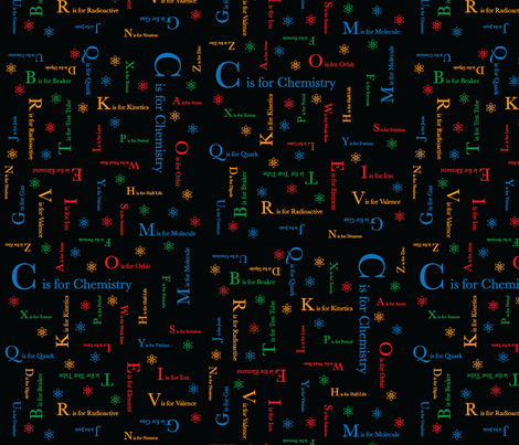 C is for Chemistry (Dark) fabric by robyriker on Spoonflower - custom fabric