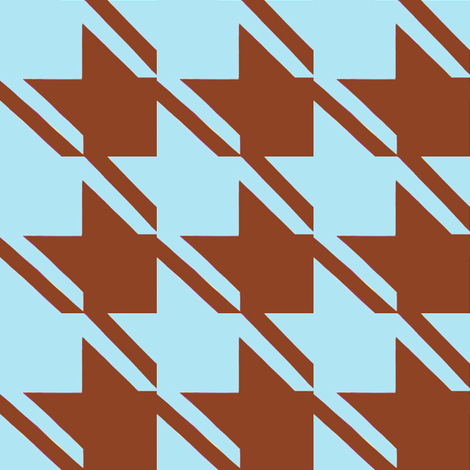baby blue chocolate houndstooth large fabric by mojiarts on Spoonflower - custom fabric