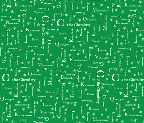 C is for Chemistry (Green) fabric by robyriker on Spoonflower - custom fabric