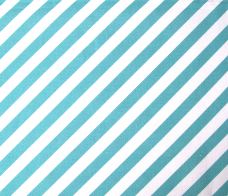 Teal Diagonal Striped