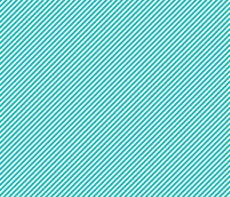 Diagonal turquoise stripes fabric by risarocksit on Spoonflower - custom fabric