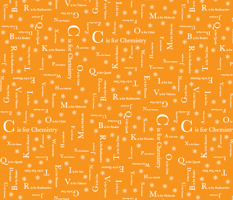C is for Chemistry (Orange) fabric by robyriker on Spoonflower - custom fabric