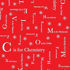 C is for Chemistry (Red)
