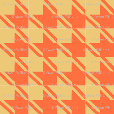 camel orange houndstooth