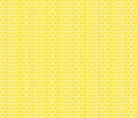 Bright Yellow Flowers'n Buds fabric by wellrockdesigns on Spoonflower - custom fabric