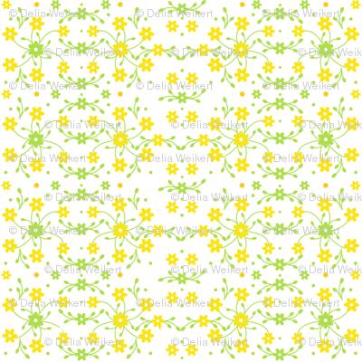 Tiny Yellow Flowers'n Buds