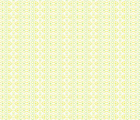 Tiny Yellow Flowers'n Buds fabric by wellrock_designs on Spoonflower - custom fabric