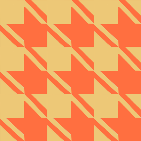 camel orange houndstooth large fabric by mojiarts on Spoonflower - custom fabric