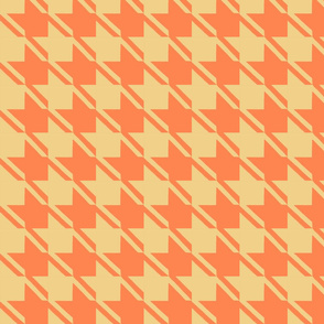 camel orange houndstooth large