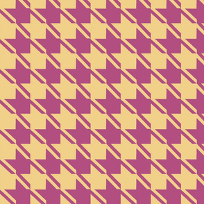camel plum houndstooth large