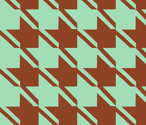 mint chocolate houndstooth large fabric by mojiarts on Spoonflower - custom fabric