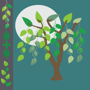 willow-tree-green full moon large print