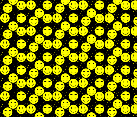 classic-smiley-black fabric by gimpworks on Spoonflower - custom fabric