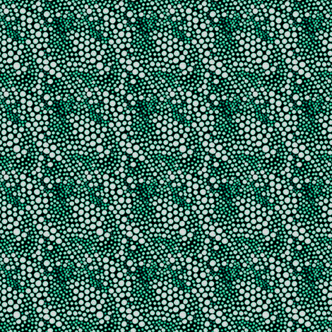 Dot Crowd: Deep Forest fabric by tallulahdahling on Spoonflower - custom fabric