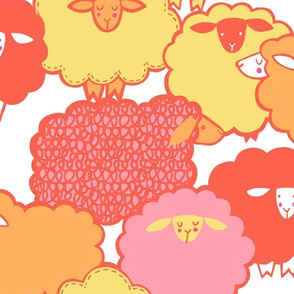 Sheep Shape (coral)