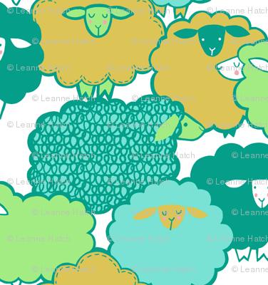 Sheep Shape (teal)