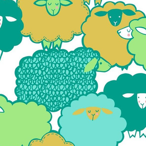 Sheep Shape (teal)