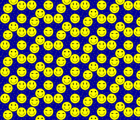 classic-smiley-blue fabric by gimpworks on Spoonflower - custom fabric