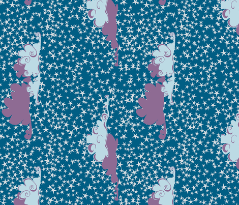 Twinkling clouds fabric by bippidiiboppidii on Spoonflower - custom fabric