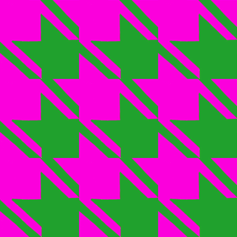 shocking pink green houndstooth large fabric by mojiarts on Spoonflower - custom fabric