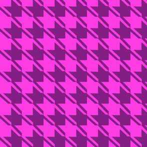 shocking pink purple houndstooth large