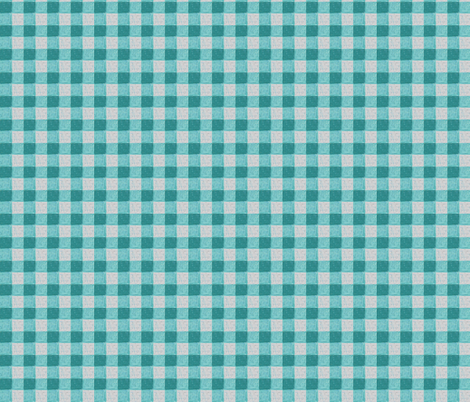 teal grey gingham fabric by mojiarts on Spoonflower - custom fabric