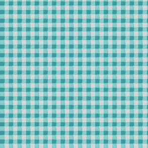 teal grey gingham