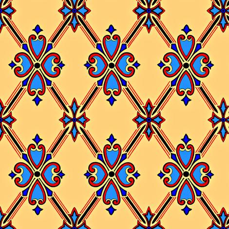 Formal Diamond fabric by elarnia on Spoonflower - custom fabric