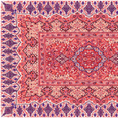 persian knot tea towel red