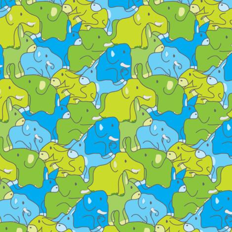 Elephant Donkey Jumble fabric by ebygomm on Spoonflower - custom fabric