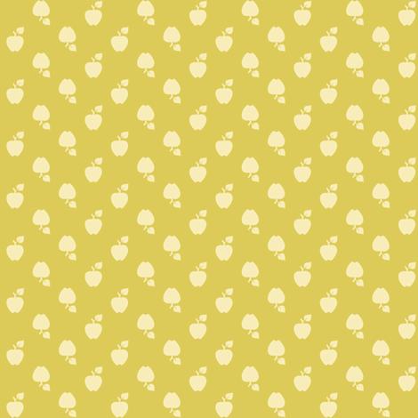 Polka_Apples_green fabric by natasha_k_ on Spoonflower - custom fabric